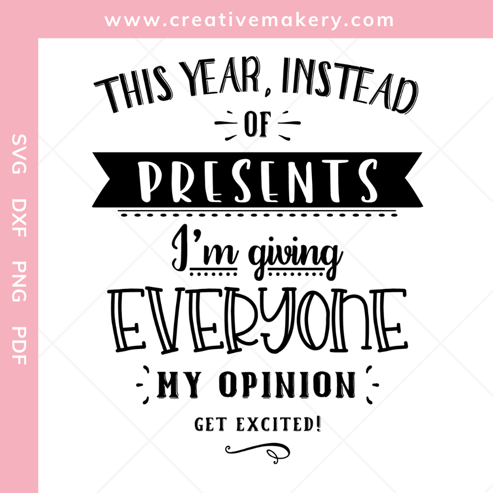 This year instead of presents I am giving everyone my opinion – get excited!